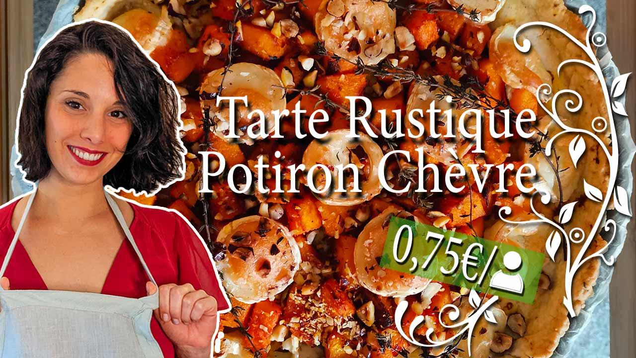 Recette Tarte Potiron Chèvre gourmande